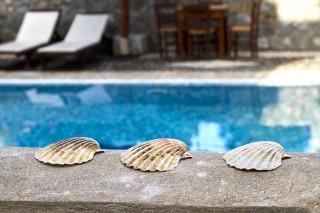 facilities santorini villa the birds pool